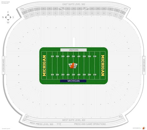 michigan state football stadium seating capacity best seats at michigan stadium brokeasshome