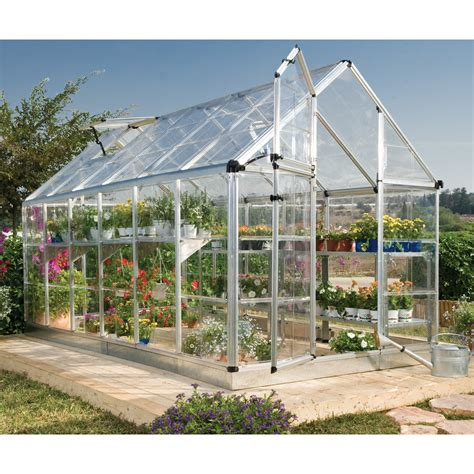 backyard greenhouses canada palram canada 701273b snap grow 6 ft x 12 ft hobby