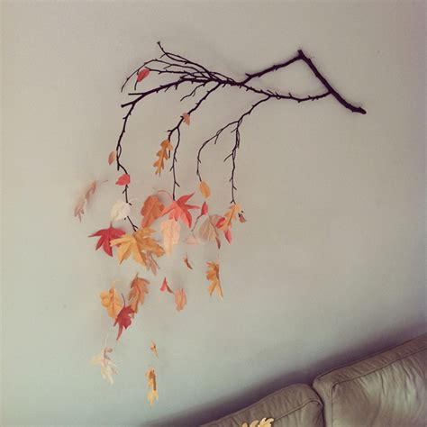 How To Make Fall Leaves Out Of Paper - autumnal wall decoration 183 craft finds 183 cut out keep