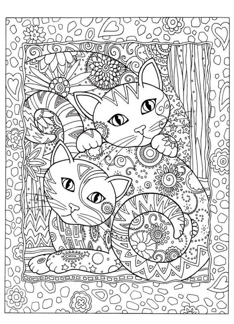 gatos  colorir cats dogs coloring  adults art