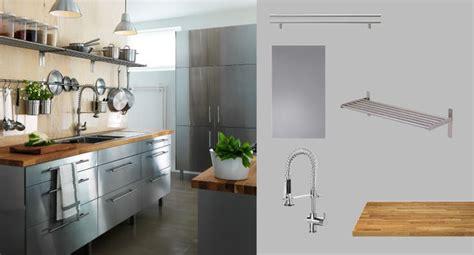 stainless steel kitchen cabinets ikea ikea faktum kitchen with rubrik stainless steel doors