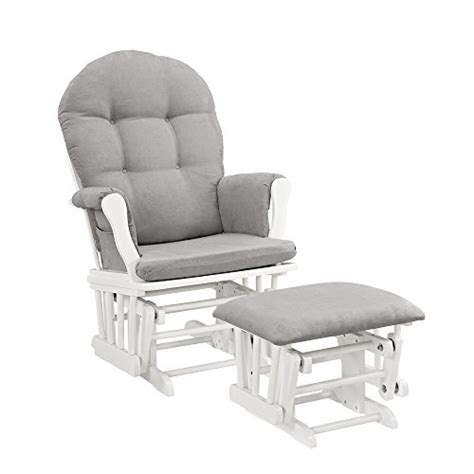 white glider with ottoman windsor glider and ottoman white with gray cushion