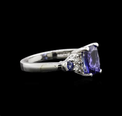 Blue Sapphire 8 78ct 1 78ct tanzanite blue sapphire and ring 14kt