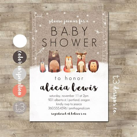 Forest Animal Baby Shower by 1000 Ideas About Woodland Forest On Forest