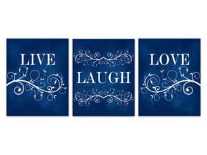 live laugh home decor blue wall art navy home decor live laugh love canvas