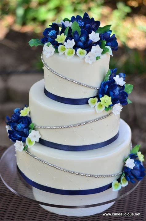 Wedding Cake Blue by Beautiful Bridal Royal Blue Wedding Ideas