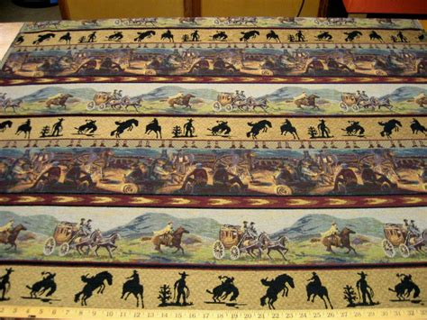 western upholstery fabric cowboy western cowboy scenes tapestry upholstery fabric ft840
