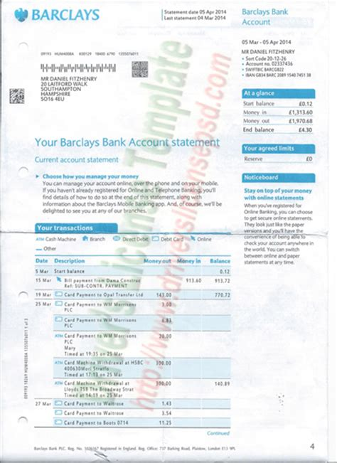 barclays bank statement template drivers license drivers license drivers license