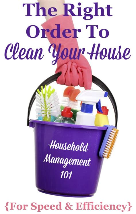 How To Clean Your by How To Clean Your House What Order Should You Clean In