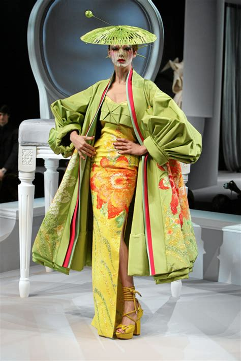 Vogue China Japan Galliano For Diors Green Coat by Catwalk Christian Couture Design Image