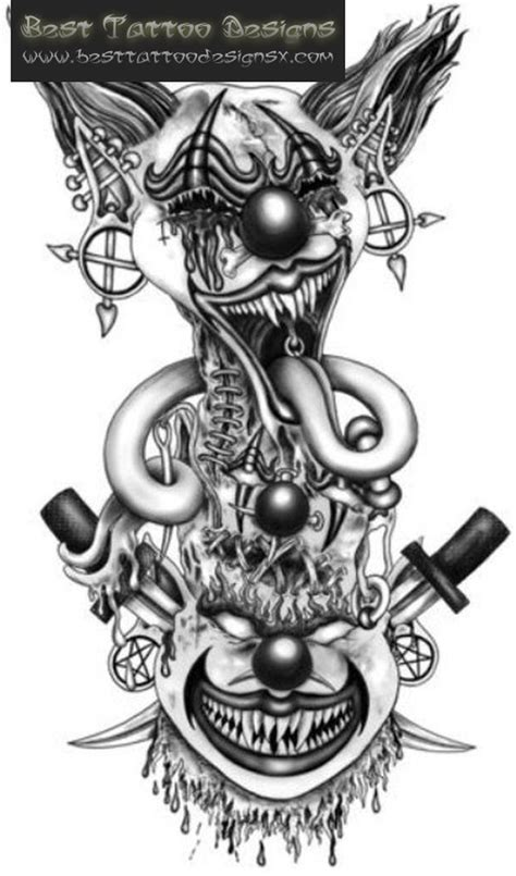 tattoo designs evil clown evil clown ideas images for tatouage