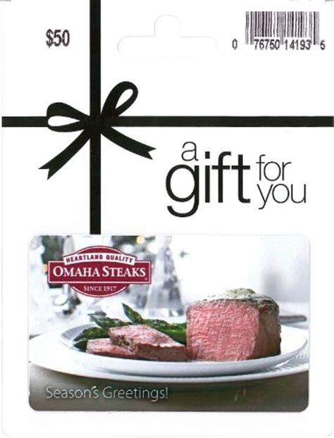 Where To Buy Omaha Steaks Gift Cards - omaha steaks holiday gift card 50 arts entertainment party celebration giving cards