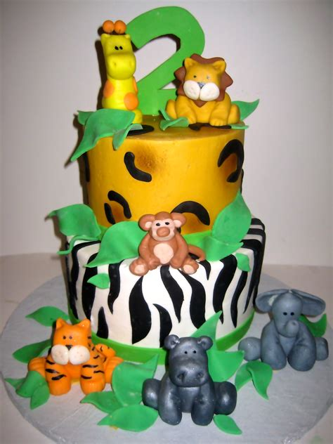 jungle themed birthday cake jungle cakes decoration ideas little birthday cakes