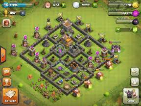 Clash of clans layouts for town hall level seven th7