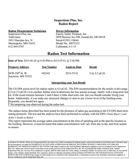 Sle Home Inspection Reports Mold Report Radon Test Report Mold Report Template