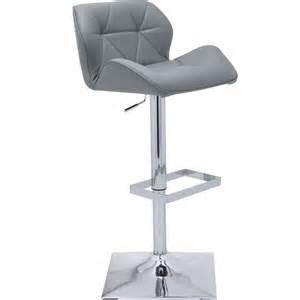 sunpan 64008 boulton adjustable bar stool in grey