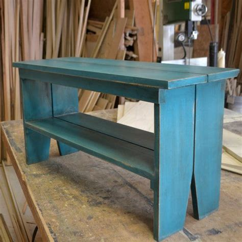 handmade wooden workbenches handmade sturdy wooden bench with vintage turquoise finish