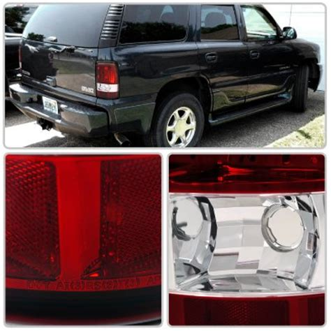 2001 tahoe tail lights gmc yukon denali 2001 2006 red and clear tail lights
