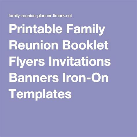 reunion banners design templates printable family reunion booklet flyers invitations