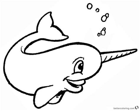 Coloring Page Narwhal by Narwhal Coloring Pages Bubbling Free Printable