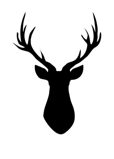deer head deer head pallet free printable deer silhouette an