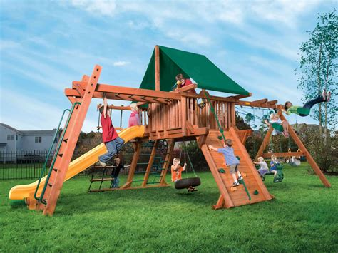 swing set base woodplay outback 5xl a