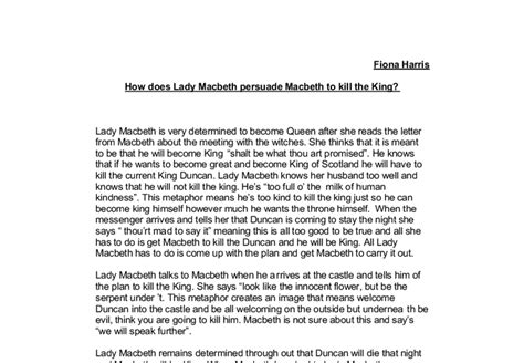 Macbeth Guilt Essay by Macbeth Guilt Essay
