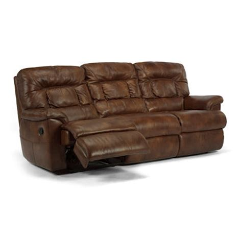 double recliner leather sofa flexsteel 1221 62 great escape leather double reclining
