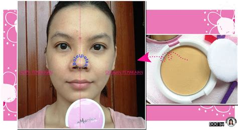 Bedak Marina product review mencoba basic makeup marina smooth and