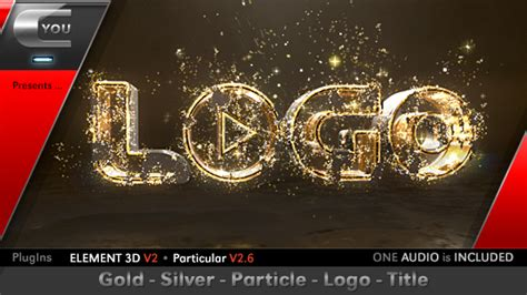 Videohive Gold Silver Particle Logo Title Free Download Free After Effects Template Particle Titles After Effects Templates