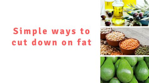 Ways Dieting Can Be by Fats And Oils Better Health Channel