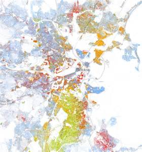Boston Demographics Map by A Strangely Beautiful Map Of Race In America Citylab