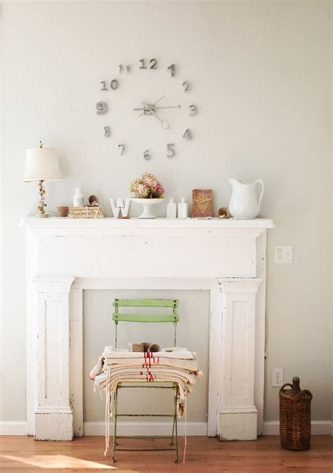 Beautiful mantel clocks in Dining Room Shabby chic with