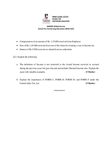 Nmims Integrated Mba Fees by Nmims 2016 Mba Questions