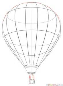 air balloon pencil drawing how to draw a air balloon step by step drawing tutorials