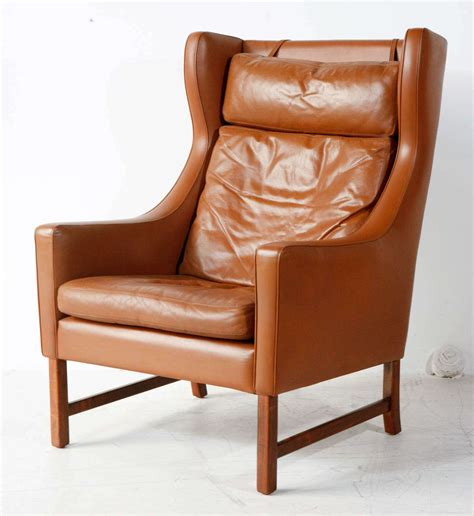 vintage style armchair vintage borge mogensen style leather armchair at 1stdibs