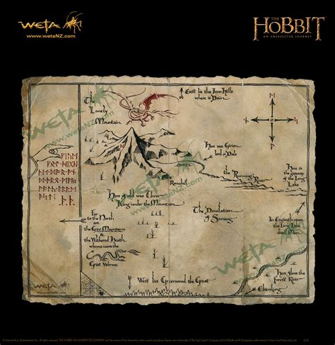 Weta Giveaways - weta workshop thorins map parchment art print