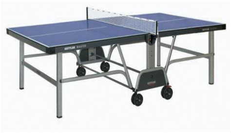 Folding Table With Wheels Ping Pong Tennis Table Master Pro Indoor Kettler