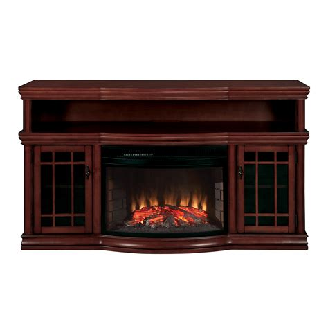 Muskoka Mtvsc2513s Dwyer Electric Fireplace Media Console Lowes Fireplace Tv Stand