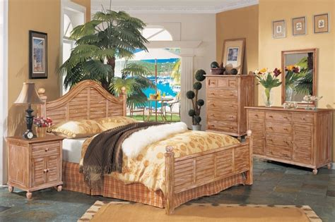 coastal style bedroom furniture tortuga bedroom collection cinnamon bark finish