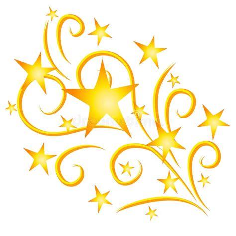 clipart stelle oro dei fuochi d artificio delle stelle di fucilazione