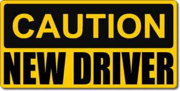 car for new driver caution new driver magnetic car sign