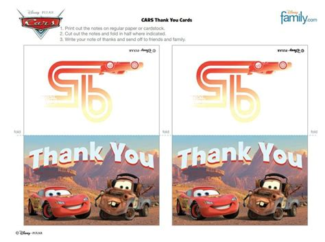 lightning mcqueen thank you cards printable 248 best images about cars party on pinterest cars car