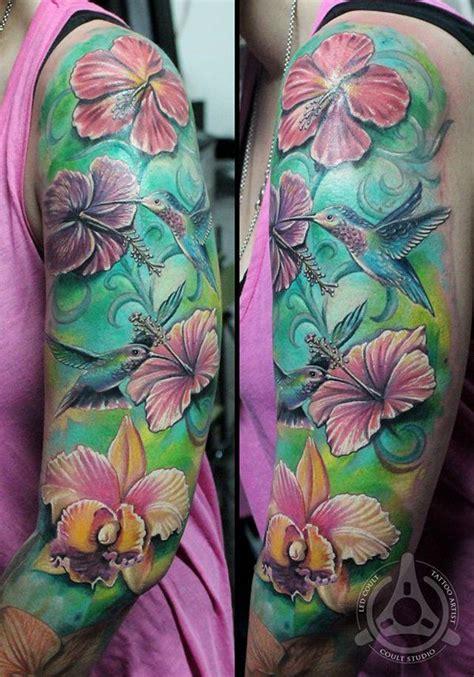 Hibiscus Quarter Sleeve Tattoo | 40 magnificent hibiscus flower tattoos hibiscus tattoo