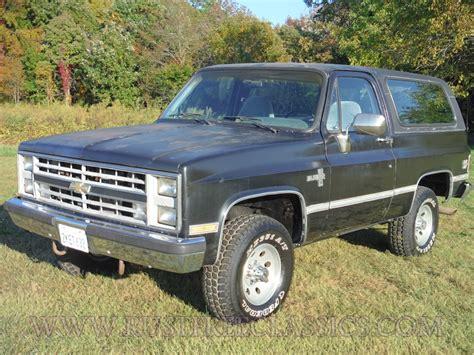 1988 88 Chevrolet Chevy 4x4 K5 Blazer Silverado Black