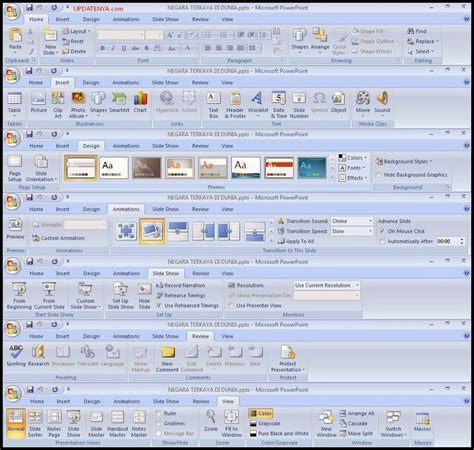 Fungsi Layout Dalam Microsoft Power Point | fungsi menu pada tabs microsoft powerpoint 2007 updatenya