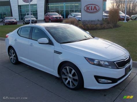 Kia Optima 2012 White 2012 Snow White Pearl Kia Optima Sx 57355464 Gtcarlot