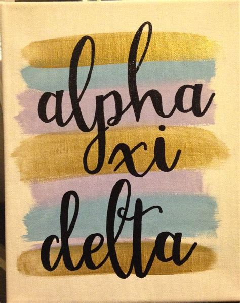 alpha xi delta colors 25 best ideas about sorority canvas on