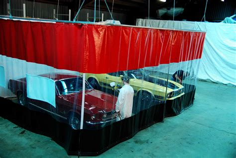 garage divider curtains auto body curtain walls garage divider curtains