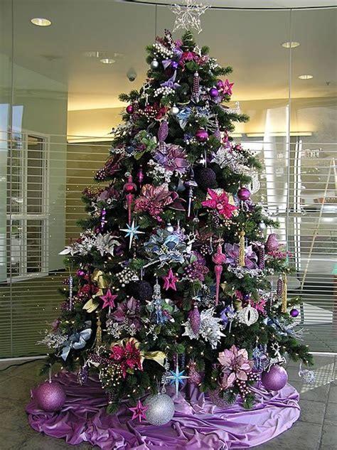decoracion arboles de navidad 2013 color purpura